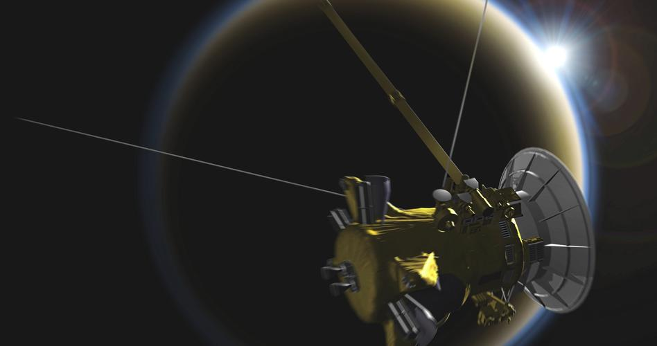 Cassini near Titan image