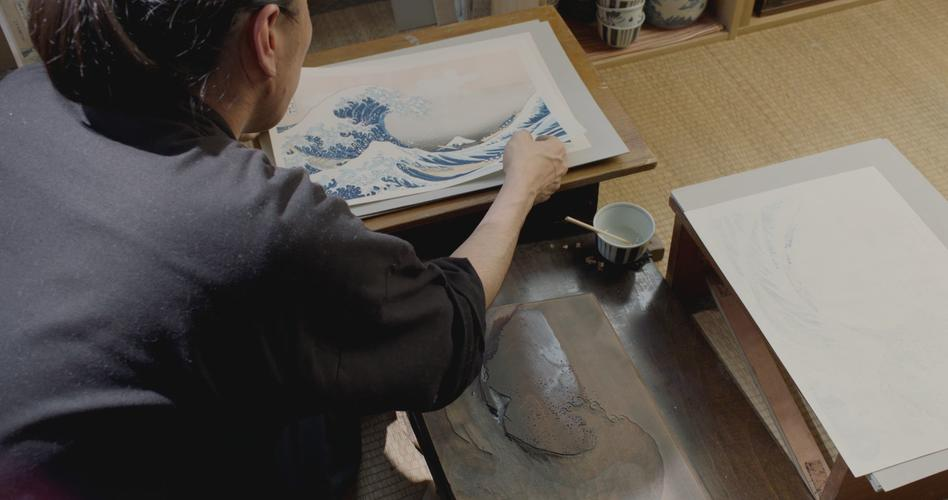 ONLINE HOKUSAI OLD MAN CRAZY TO PAINT UK TX MASTER.GREATWAVE.PRINT