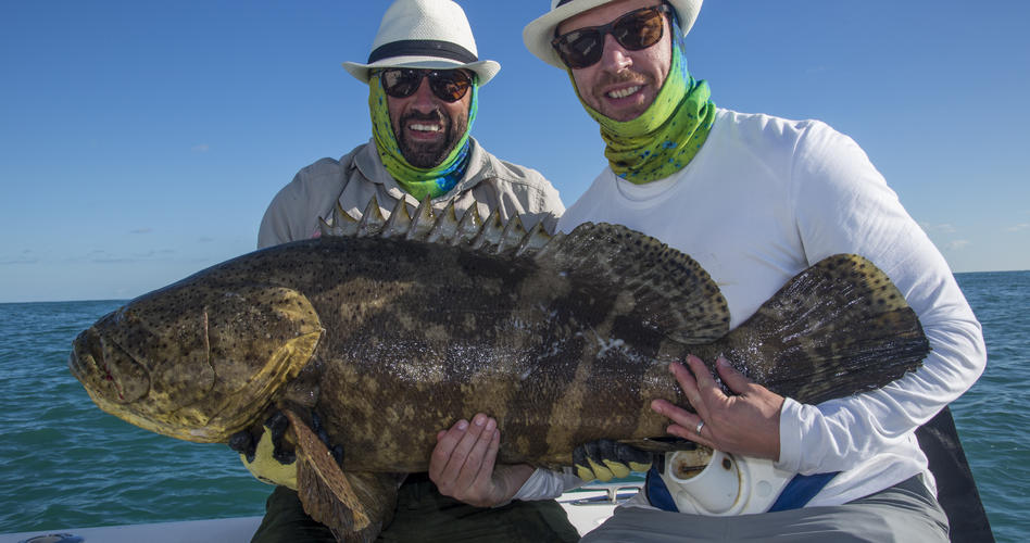Wayne and Ali smaller grouper
